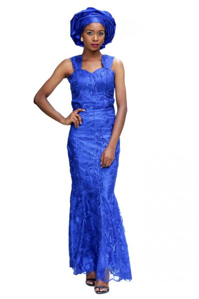 Queen Sleeveless Trumpet Lace Gown