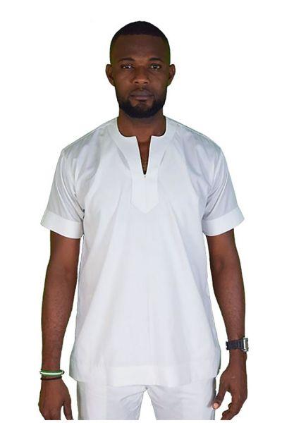 Short-Sleeve Native Neck Native Shirt