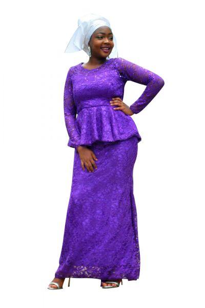 Style NTB1 Peplum Top & Skirt Set