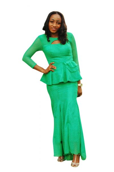 Style NTB4 Peplum Top & Skirt Set