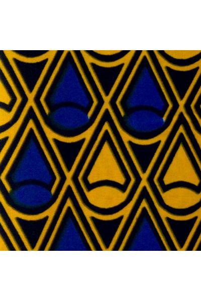 Dark Blue, Medium Blue & Golden Yellow Ankara (W047)