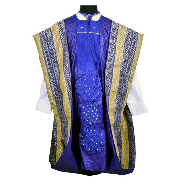 Custom Agbada Outfit w/ Custom Aso Oke
