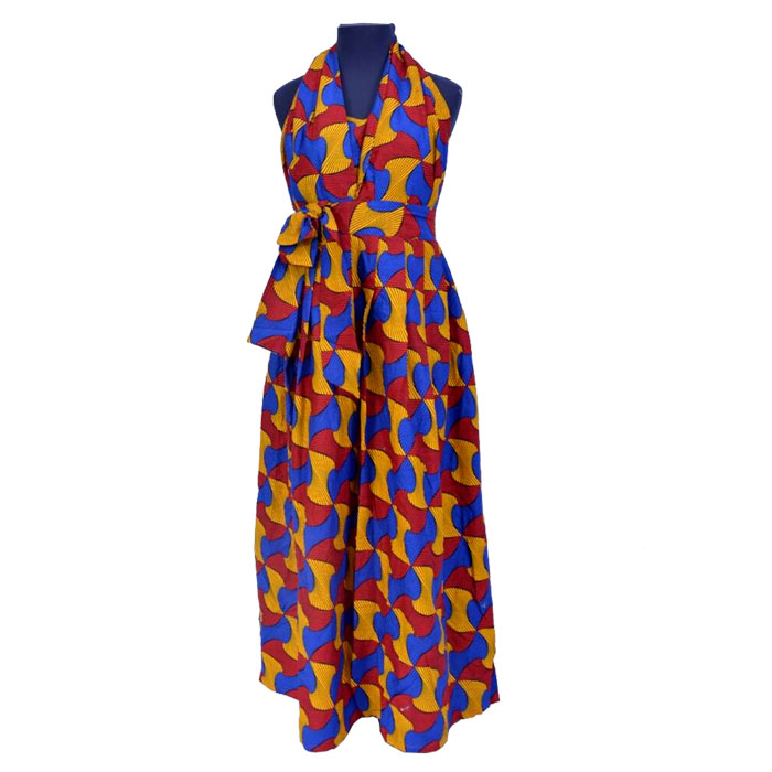 Halter Ankara Dress